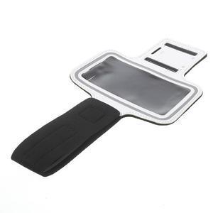 Fitsport pouzdro na ruku pro mobil do velikosti až 145 x 73 mm - bílé - 6