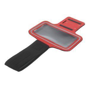 Fitsport pouzdro na ruku pro mobil do velikosti až 145 x 73 mm - červené - 6