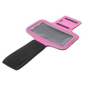 Fitsport pouzdro na ruku pro mobil do velikosti až 145 x 73 mm - rose - 6