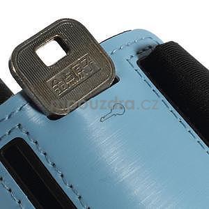 Soft pouzdro na mobil vhodné pro telefony do 160 x 85 mm - světle modré - 6