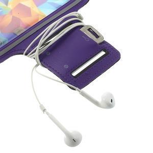 Fitsport pouzdro na ruku pro mobil do velikosti až 145 x 73 mm - fialové - 6