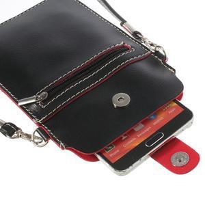 Univerzální pouzdro/kapsička na mobil do rozměru 180 x 110 mm - černé - 6
