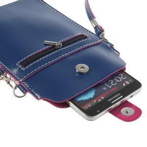 Univerzální pouzdro/kapsička na mobil do rozměru 180 x 110 mm - modré - 6