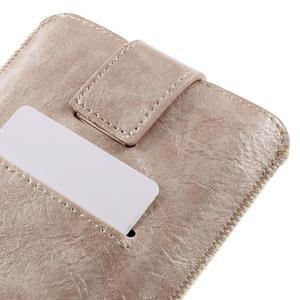 Univerzální flipové pouzdro pro mobily do 150 x 85 mm - zlatorůžové - 6