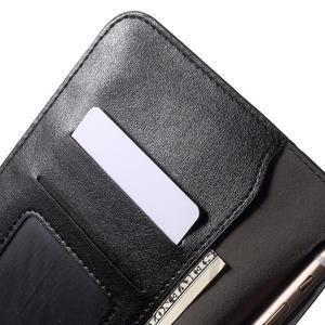 Peněženkové univerzální pouzdro na mobil do 140 x 68 x 10 mm - černé - 6