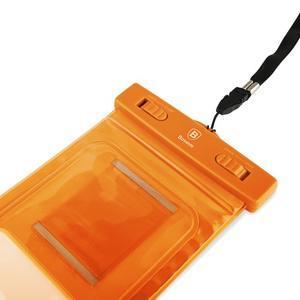Base IPX8 vodotěsný obal na mobil do 158 x 78 mm - oranžový - 6