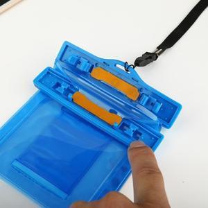 Base IPX8 vodotěsný obal na mobil do 158 x 78 mm - modrý - 6