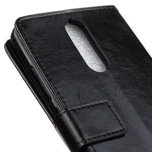 Horse PU kožené pouzdro na mobil Lenovo K5 Note - černé - 7