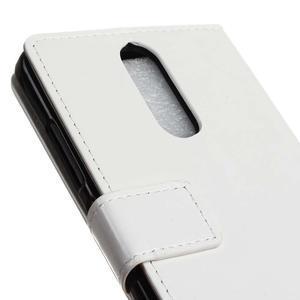 Horse PU kožené pouzdro na mobil Lenovo K5 Note - bílé - 7