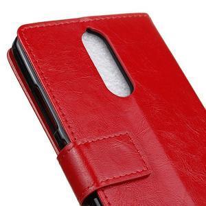 Horse PU kožené pouzdro na mobil Lenovo K5 Note - červené - 7