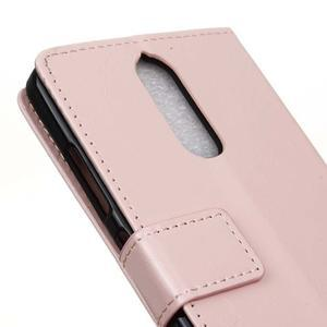 Horse PU kožené pouzdro na mobil Lenovo K5 Note - růžové - 7