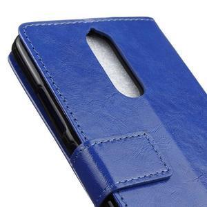 Horse PU kožené pouzdro na mobil Lenovo K5 Note - modré - 7