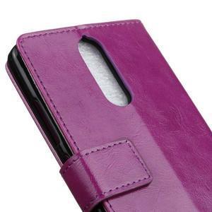 Horse PU kožené pouzdro na mobil Lenovo K5 Note - fialové - 7