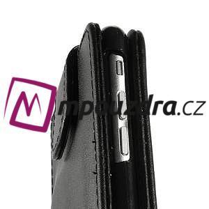 PU kožené flipové pouzdro na iPhone 6, 4.7 - černé - 7