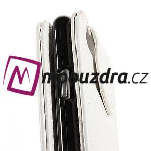 PU kožené flipové pouzdro na iPhone 6, 4.7 - bílé - 7