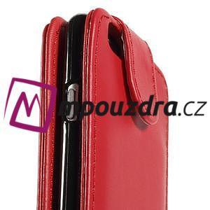 PU kožené flipové pouzdro na iPhone 6, 4.7 - červené - 7