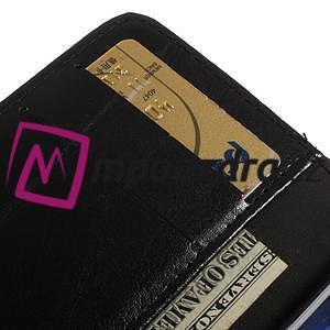 Peněženkové PU kožené pouzdro na iPhone 6, 4.7 - černé - 7