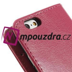 Peněženkové PU kožené pouzdro na iPhone 6, 4.7 - růžové - 7