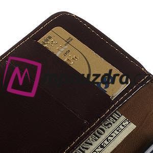 Peněženkové PU kožené pouzdro na iPhone 6, 4.7 - hnědé - 7
