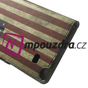 Peněženkové pouzdro na Samsung Galaxy Note 4- USA vlajka - 7