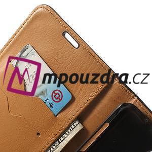 Peněženkové PU kožené pouzdro na Samsung Galaxy Note 4- černé - 7