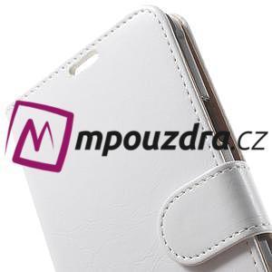 Peněženkové PU kožené pouzdro na Samsung Galaxy Note 4- bílé - 7