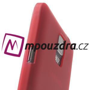 Gelové pouzdro na Samsung Galaxy Note 4- červené - 7