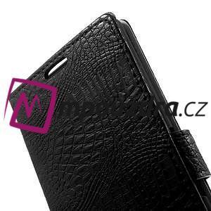 Peněženkové PU kožené pouzdro na Sony Xperia Z3 D6603 - černé - 7