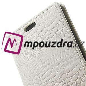 Peněženkové PU kožené pouzdro na Sony Xperia Z3 D6603 - bílé - 7