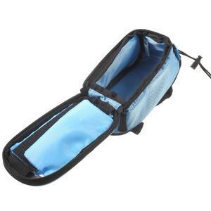 Brašna na kolo s úložným prostorem pro mobily do rozměru 138,3 x 67,1 × 7,1 mm - modrá - 7