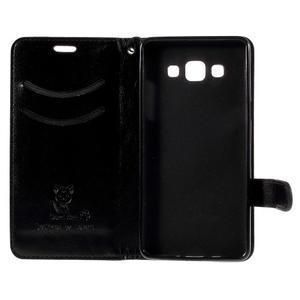 Kočička Domi PU kožené pouzdro na Samsung Galaxy A5 - černé - 7