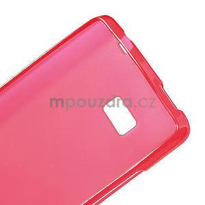 Gelové matné pouzdro pro HTC Desire 600- červené - 7