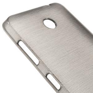 Gelové Kartáčové pouzdro na Nokia Lumia 630- šedé - 7
