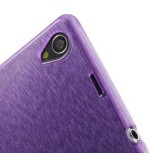 Kartáčované pouzdro na Sony Xperia Z1 C6903 L39- fialové - 7