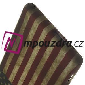 Gelové pouzdro na Sony Xperia M2 D2302 - USA vlajka - 7