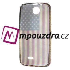 Gelové pouzdro na HTC Desire 310- USA vlajka - 7