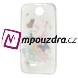 Gelové pouzdro na HTC Desire 310- barevné motýlci - 7