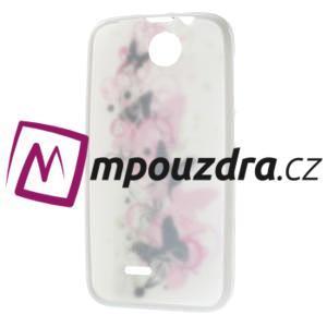 Gelové pouzdro na HTC Desire 310- motýl květ - 7
