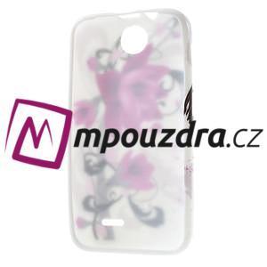 Gelové pouzdro na HTC Desire 310- fialový květ - 7