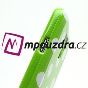 Gelový Puntík pro Samsung Galaxy S4 mini i9190- zelené - 7