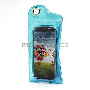 Gelové matné pouzdro na Samsung Galaxy S4 i9500- modré - 7