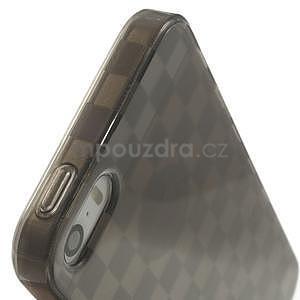 Gel-koskaté pouzdro pro iPhone 5, 5s- šedé - 7