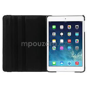 PU kožené 360 °  pouzdro pro iPad mini-černé - 7
