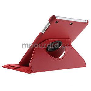 PU kožené 360 °  pouzdro pro iPad mini- červené - 7
