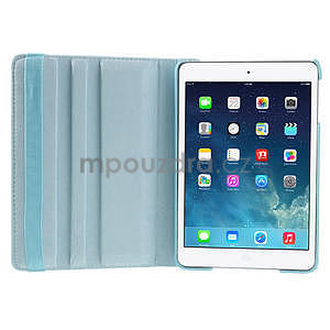 PU kožené 360 °  pouzdro pro iPad mini- modré - 7