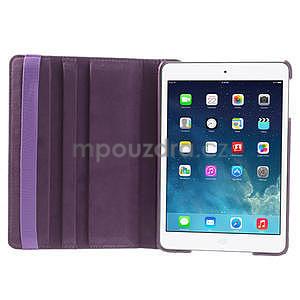 PU kožené 360 °  pouzdro pro iPad mini- fialové - 7