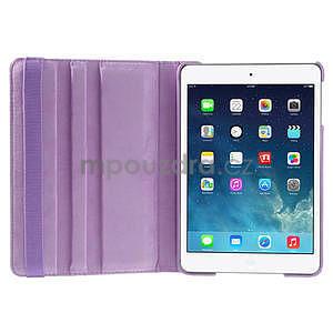 PU kožené 360 °  pouzdro pro iPad mini- světlefialové - 7