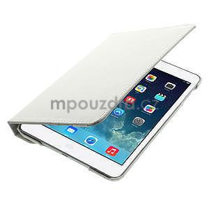 PU kožené 360 °  pouzdro pro iPad mini- bílé - 7