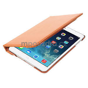 PU kožené 360 °  pouzdro pro iPad mini- oranžové - 7