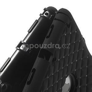 Hybridní kamínkové pouzdro pro iPad mini- černé - 7